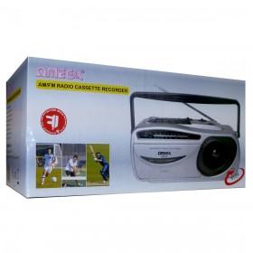 09109 Omega AM/FM Radio Cassette Recorder