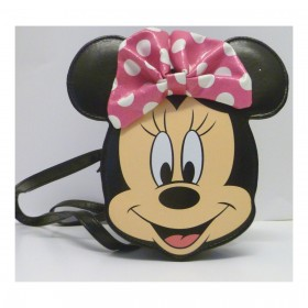 Disney 491507U Minnie Mouse Face Hand Bag