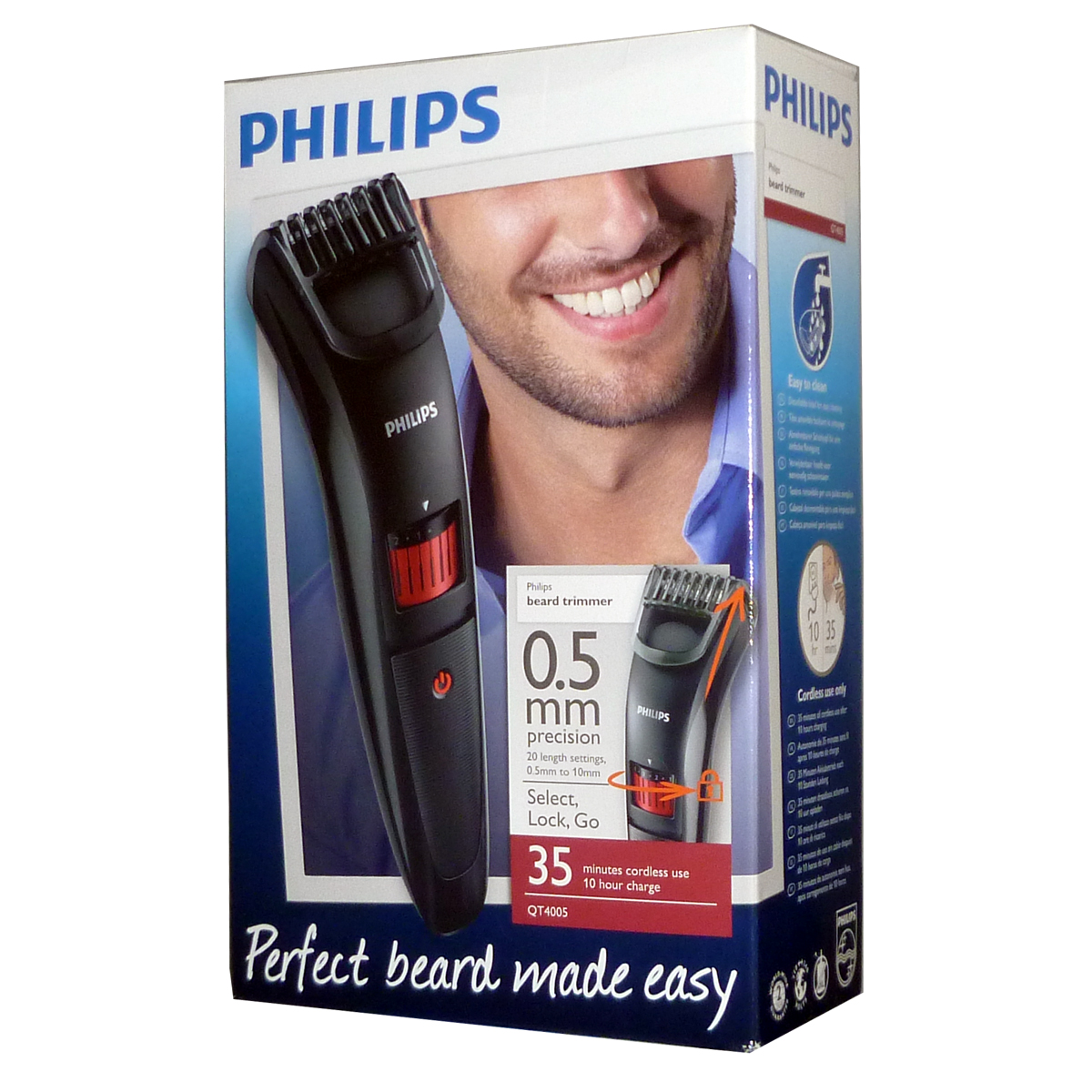 philips qt4005 stubble trimmer elf international ltd. Black Bedroom Furniture Sets. Home Design Ideas